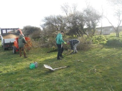 Stephen Bailey, Brett and volunteer working on Hythe Green.jpg